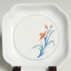 正角木瓜皿—五種絵変わり